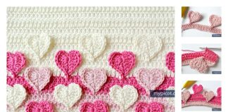 Multicolored Heart Crochet Stitch Free Pattern