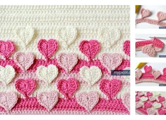 Multicolored Heart Crochet Stitch Free Pattern
