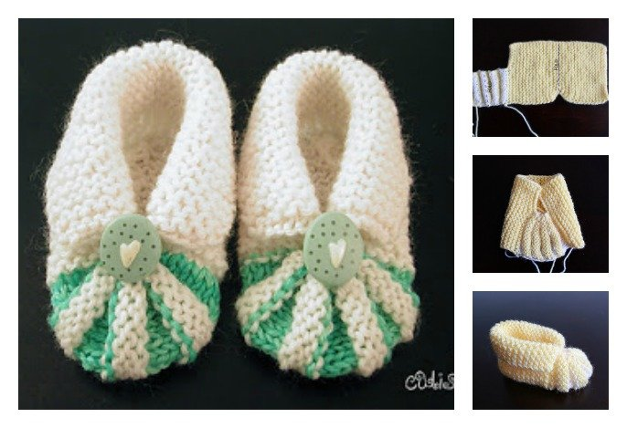 Simple And Cute Baby Knitting Booties Free Pattern Cool Creativities