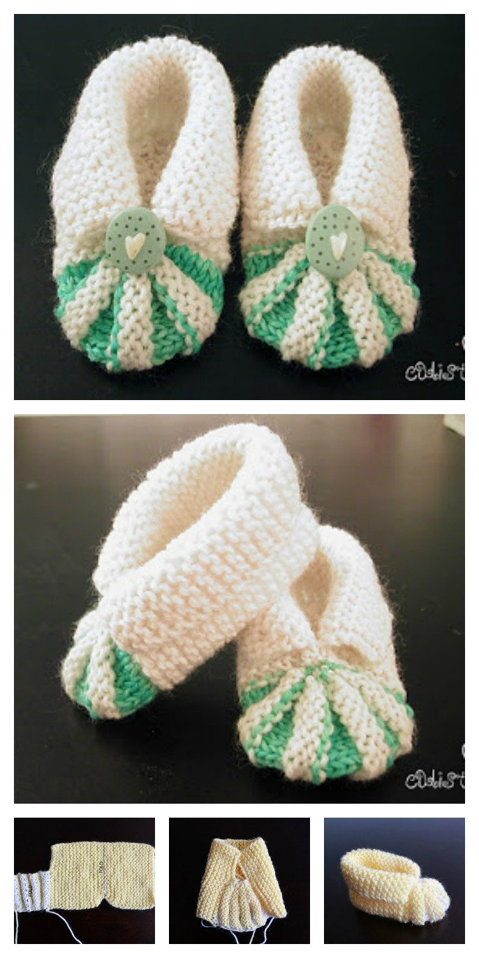 Knit Simple and Cute Baby Booties Free Pattern