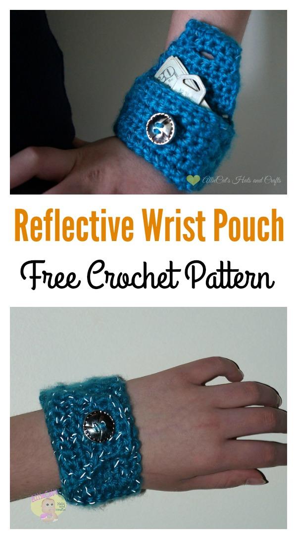 Reflective Wrist Wallet Free crochet Pattern