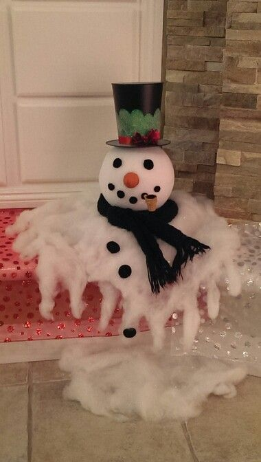 DIY Melted Snowman Decoration