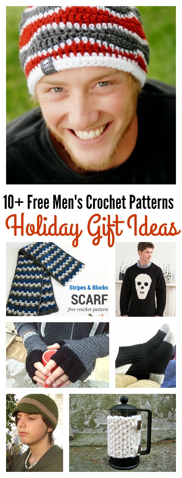10+ Free Men's Crochet Patterns for the Holiday Gift Ideas