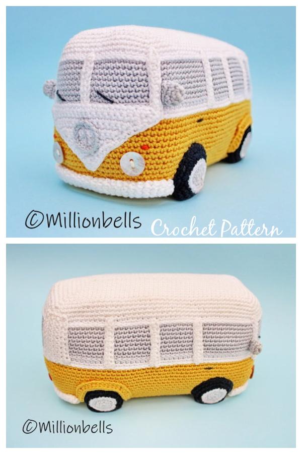 Amigurumi Camper Van Crochet Pattern