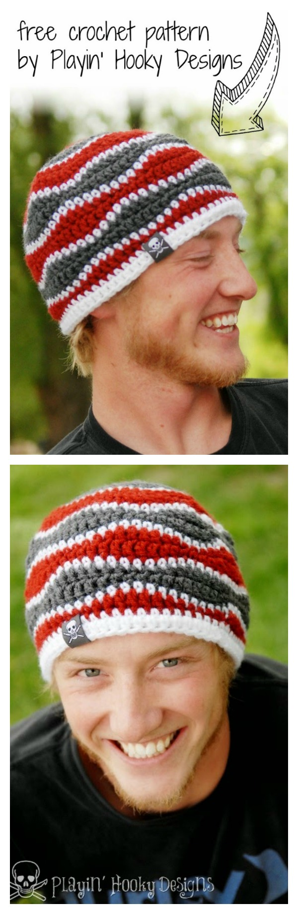 Brain Waves Beanie Free Crochet Pattern Cool Creativities