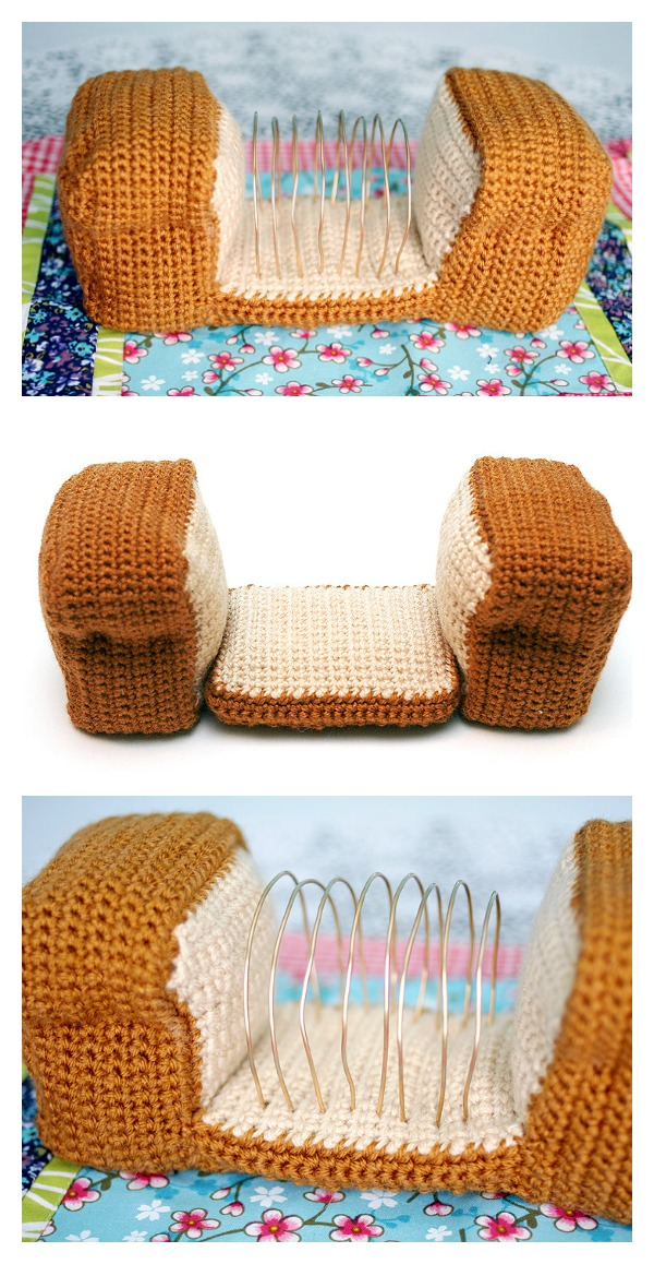 Bread Loaf Letter-Organizer Free Crochet Pattern & Video Tutorial