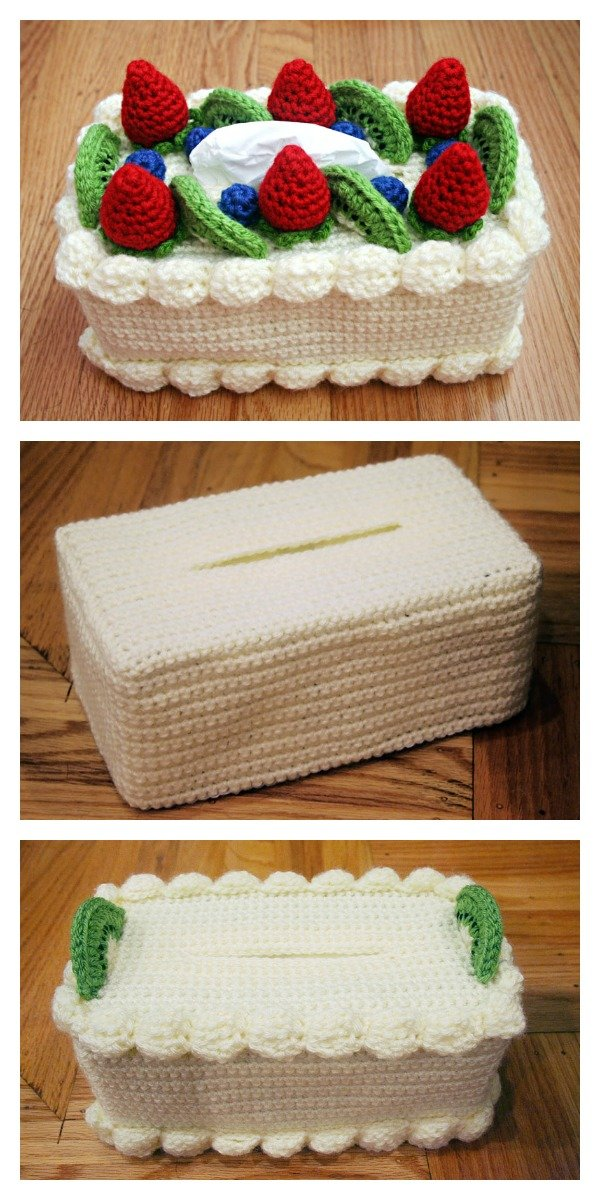 Cake Tissue Box Cozy Free Crochet Pattern Cool Creativities