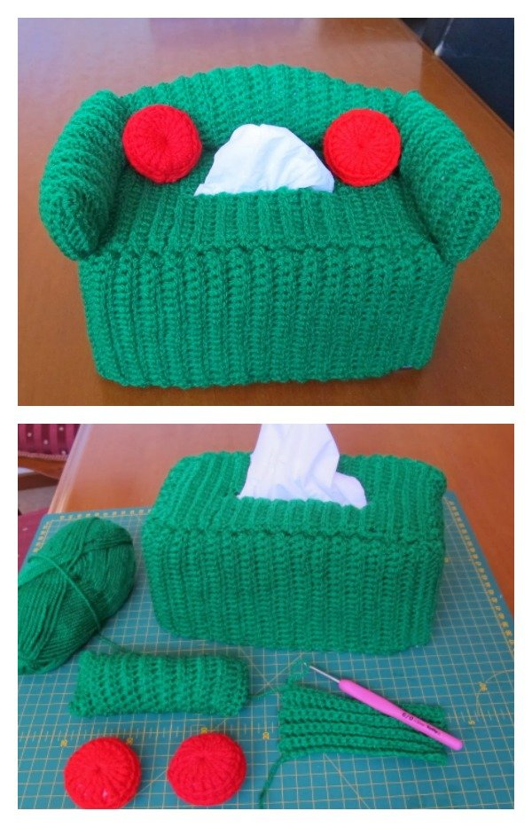Free Crochet Patterns For Sofa Tissue Box Covers