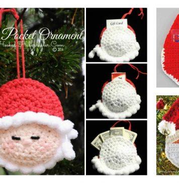 Crochet Christmas Santa Pocket Surprise Ornament Free Pattern