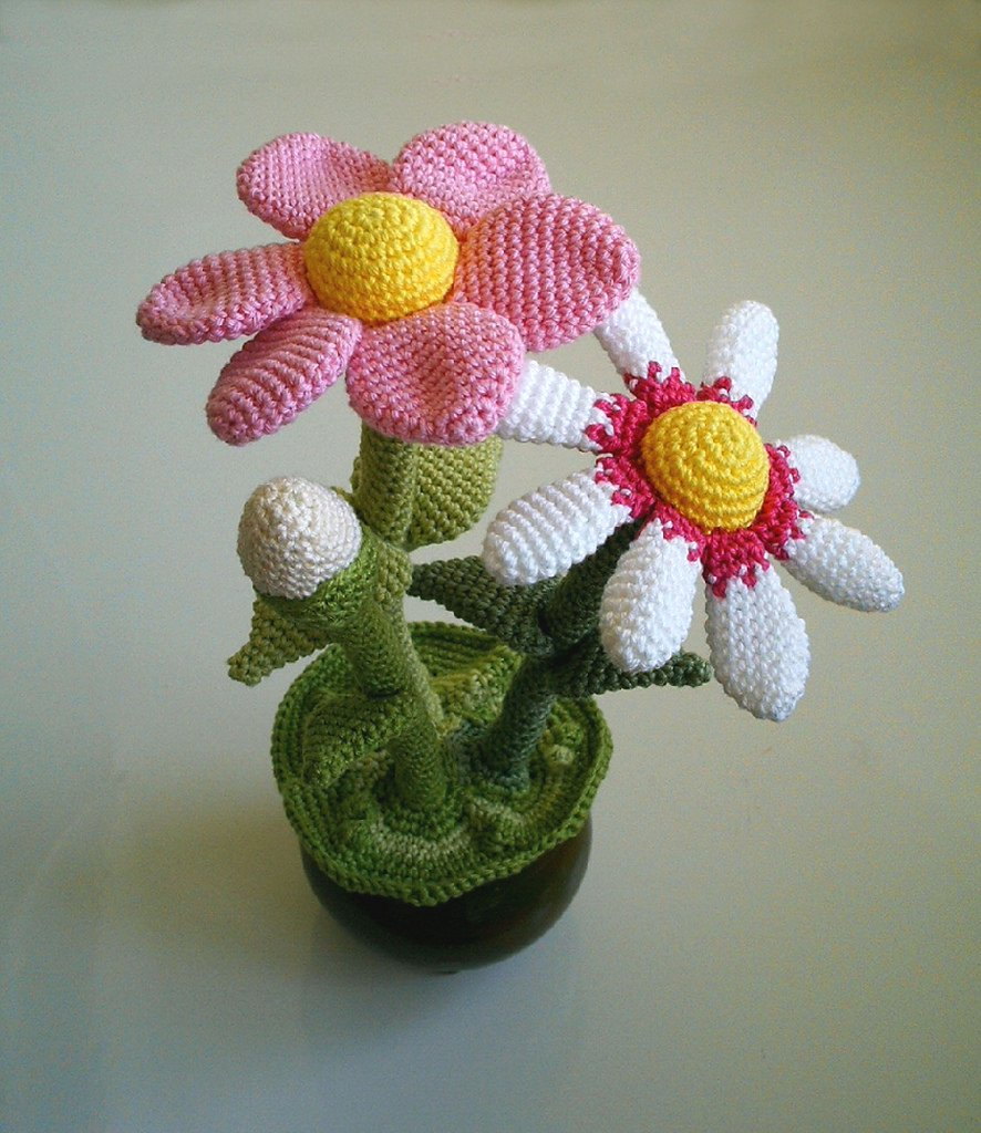 Crochet Flower Pot Free Pattern