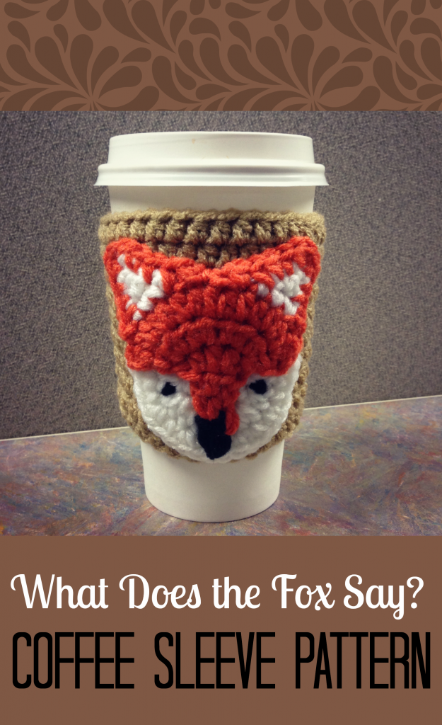 Crochet Fox Coffee Cozy Free Pattern