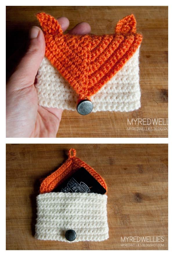 Crochet Fox Gift Card Purse Free Pattern Cool Creativities