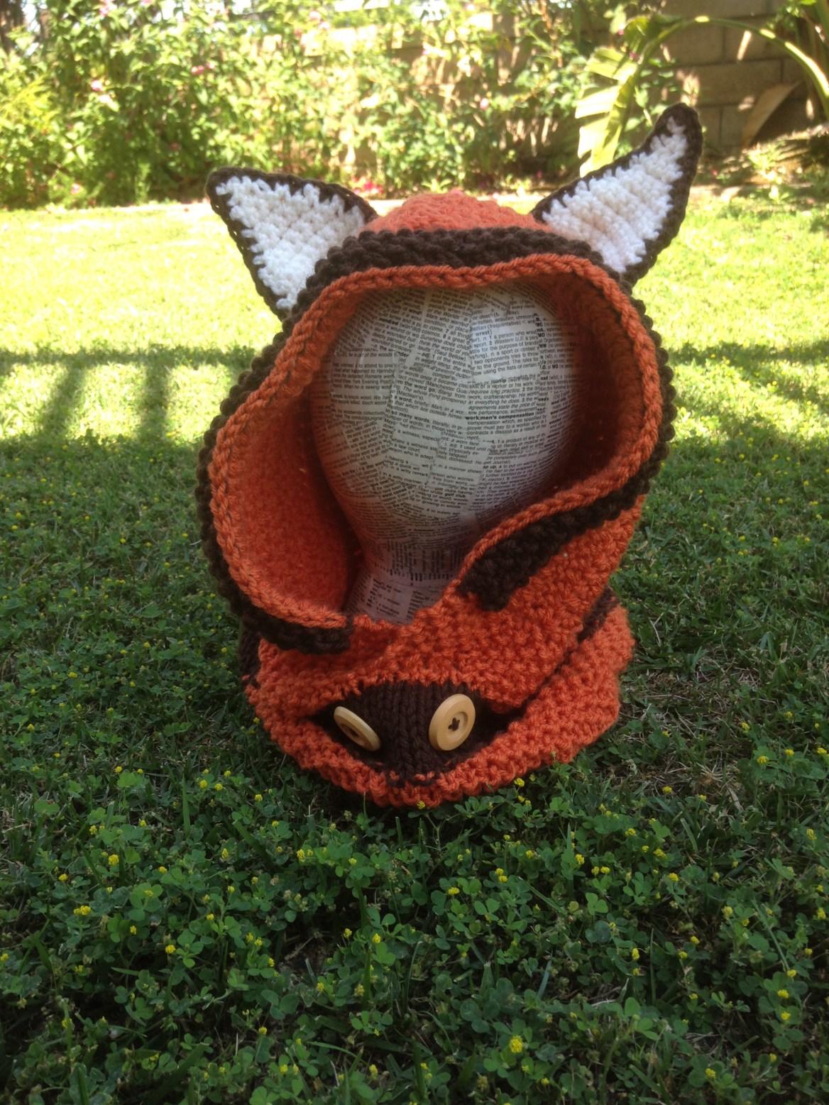 Crochet Fox Hoodie Free Pattern