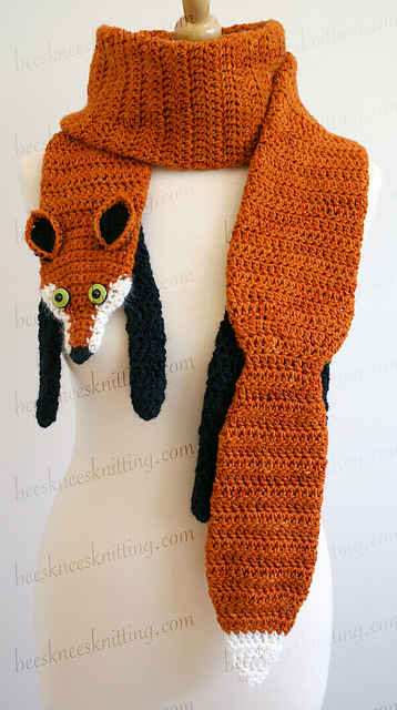 Crochet Fox Scarf Pattern