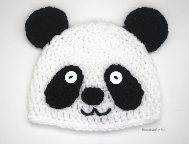 Crochet Panda Bear Hat Free Pattern