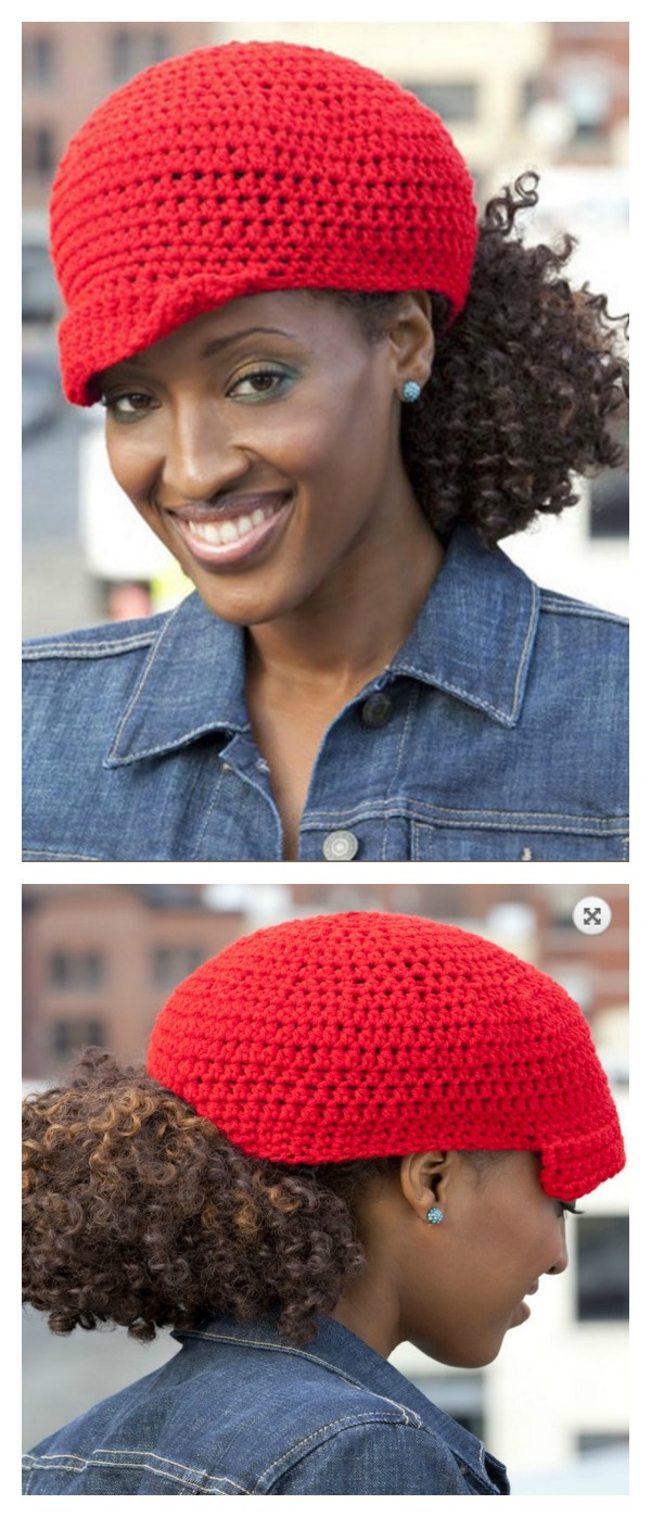 Crochet Ponytail Hat Free Pattern