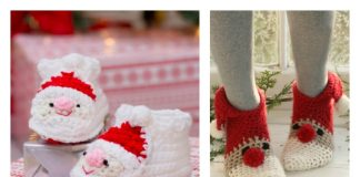 Crochet Santa Claus Slipper Patterns