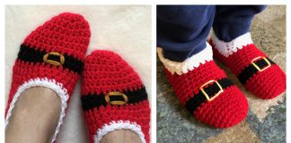 Crochet Santa Slipper Free Patterns