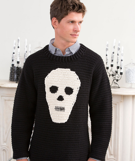 Crochet Skull Sweater Free pattern