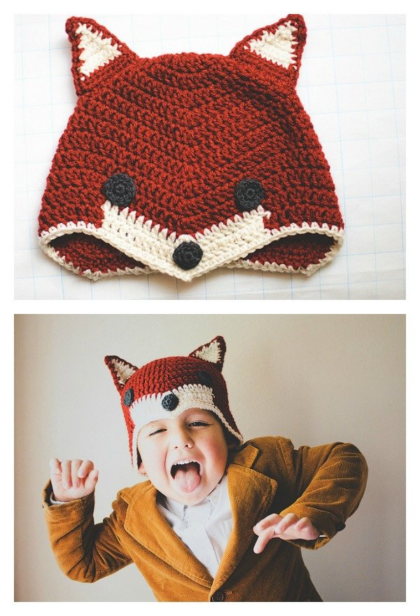 Crochet Sly Fox Hat Free Pattern
