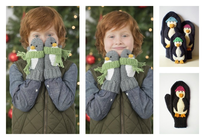 Cute Penguin Mittens Free Knitting And Crochet Patterns