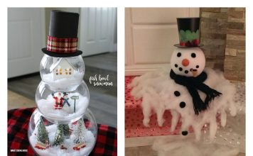 DIY Amazing Fish Bowl Snowman