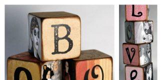 DIY Family Memory Letter Blocks