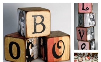 DIY Family Memory Letter Blocks