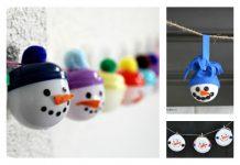 DIY Snowmen Garland