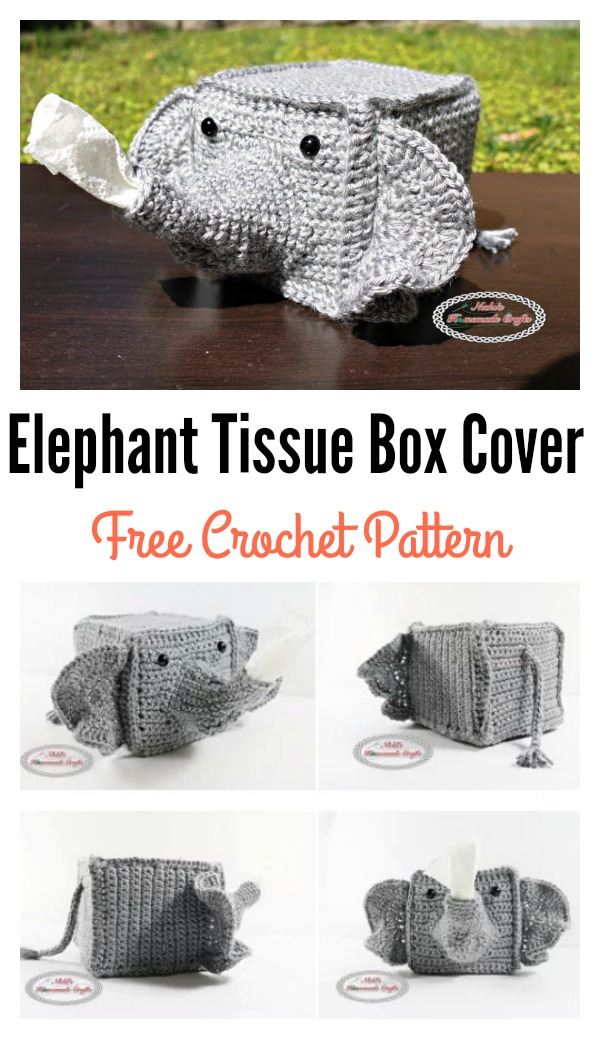 Elephant Tissue Box Cover Free Crochet Pattern Cool Creativities