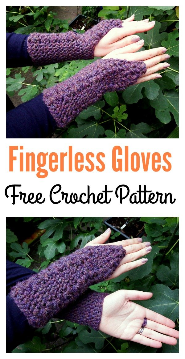 Flower Trails Fingerless Gloves Free Crochet Pattern