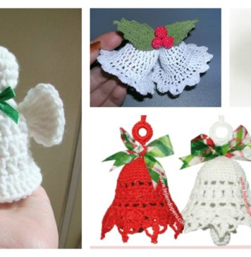 Free Christmas Bells Ornaments Crochet Patterns