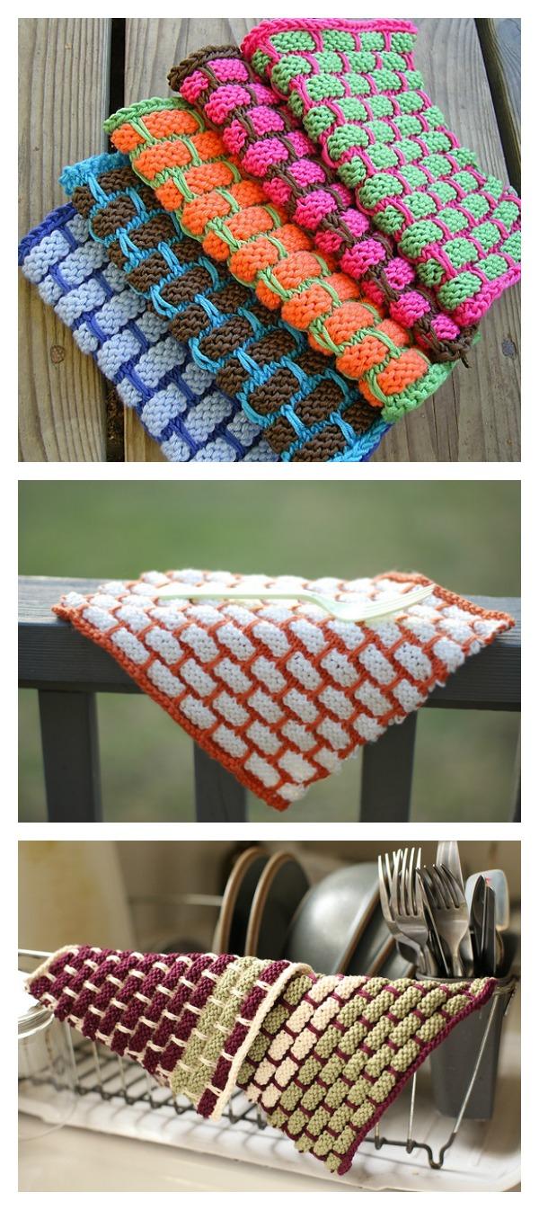 Knit Ballband Dishcloth FREE Pattern