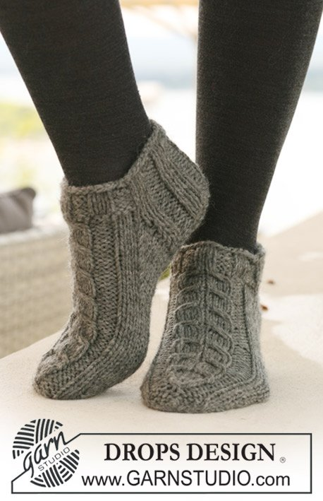 Free Knitting Pattern For Slipper Socks : Free Knit Ankle Sock Patterns