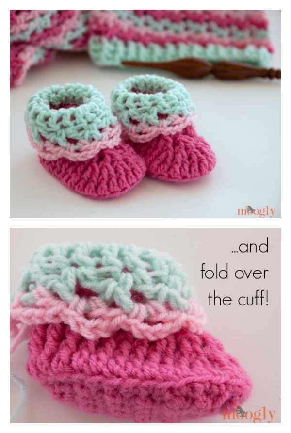 Loopy Love Newborn Baby Booties Free Crochet Pattern Cool Creativities