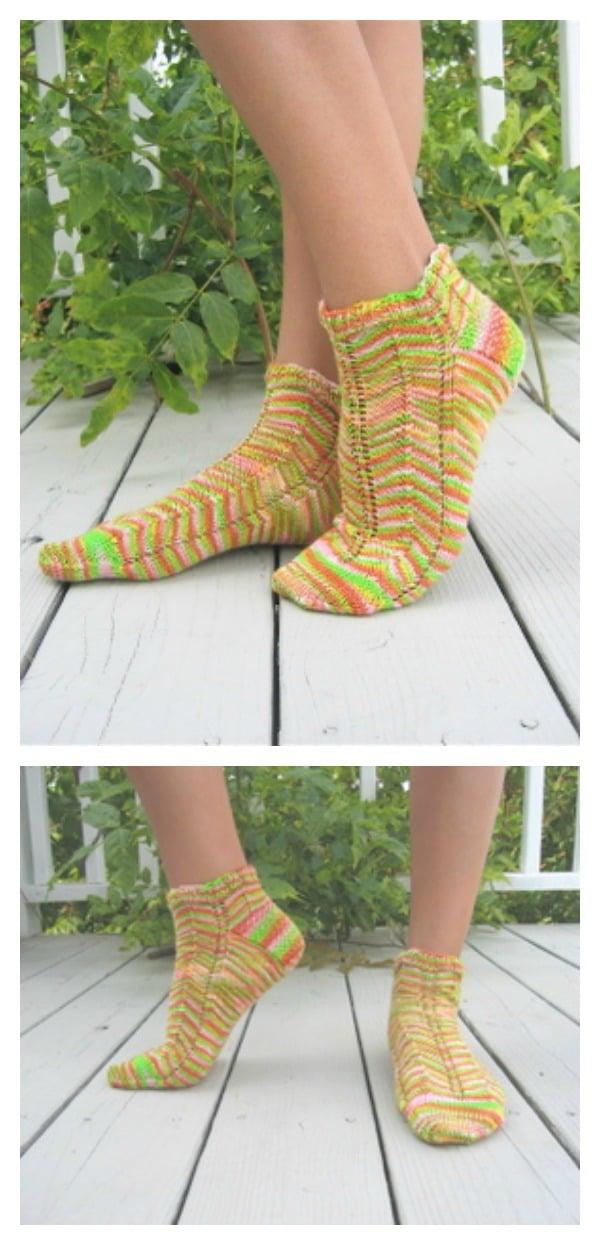 Nasturtium Anklets Free Knit Pattern Cool Creativities