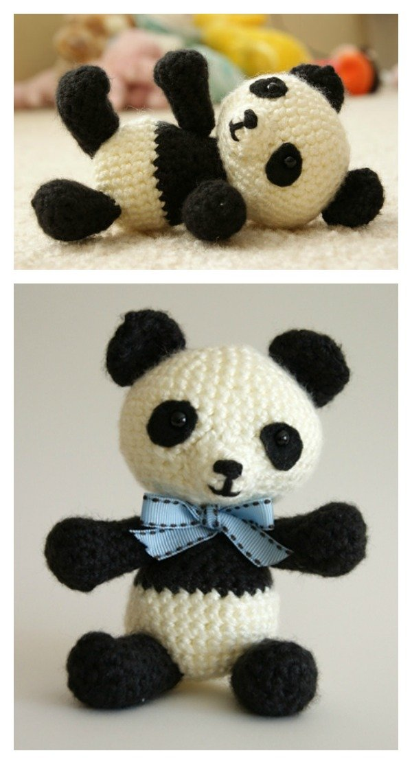 Panda Bear Free Pattern Amigurumi to Crochet ⋆ Crochet Kingdom | 1113x600