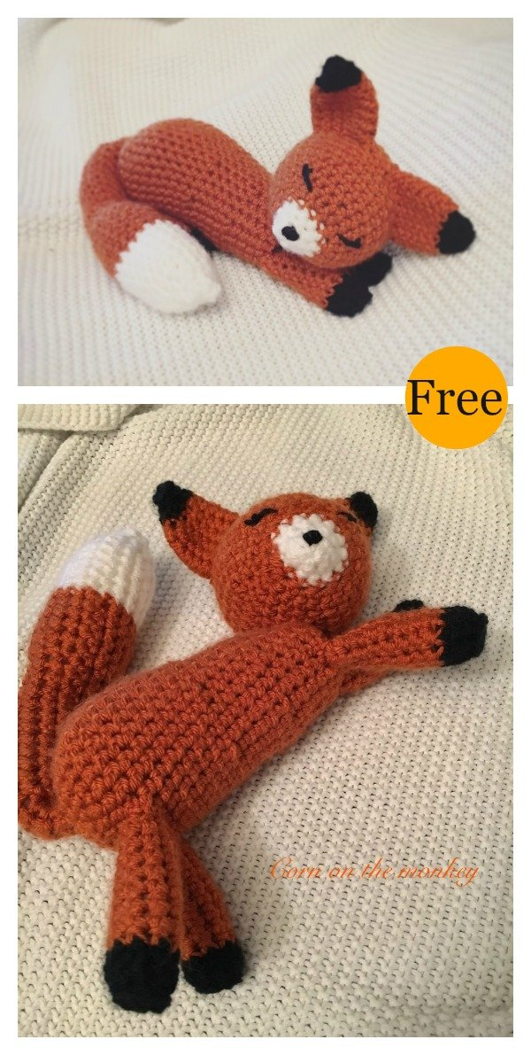 Fredric the Fox Free Amigurumi Pattern | Jess Huff | 1191x600