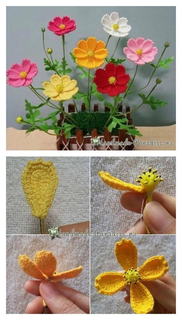 Crochet pretty flower free patterns orchid flower spring flower free crochet diagrams ccuart Gallery