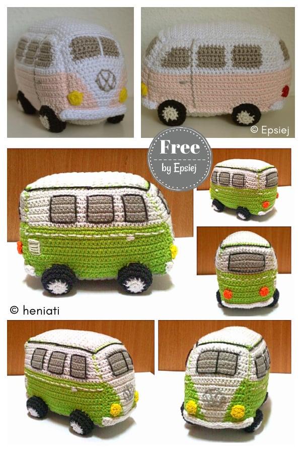 Volkswagen Bus Free Crochet Pattern
