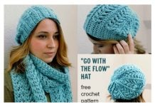 Go with the Flow Hat Free Crochet Pattern