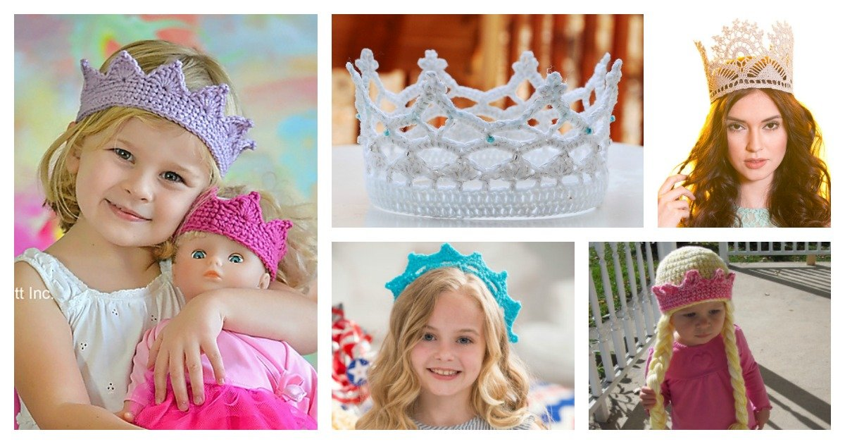 Royal Crochet Crown Free Patterns