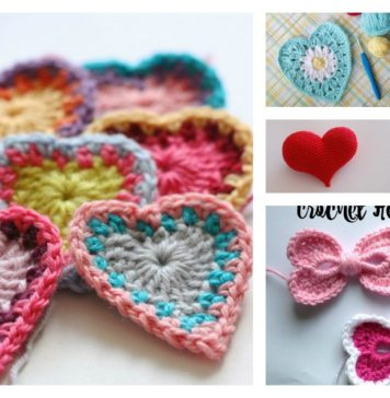 8 Valentine's Day Heart Free Crochet Patterns You'll Love