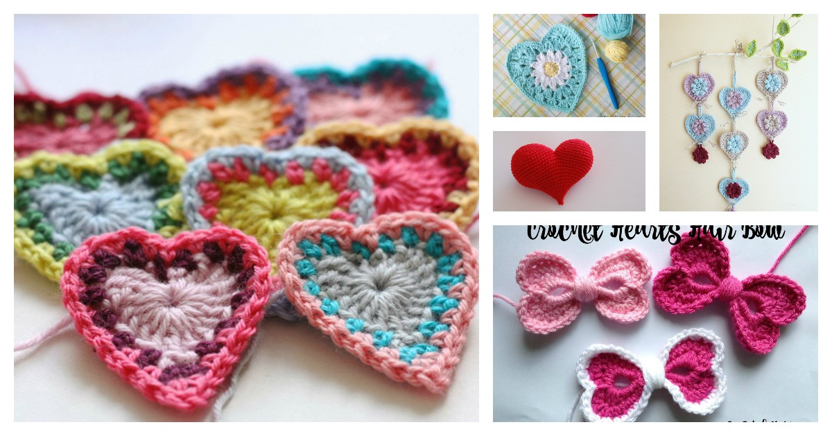 8 Heart Free Crochet Patterns You\'ll Love