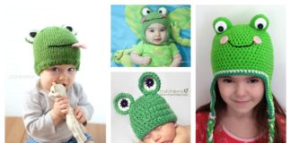 Adorable Frog Hat Free Knitting / Crochet Patterns