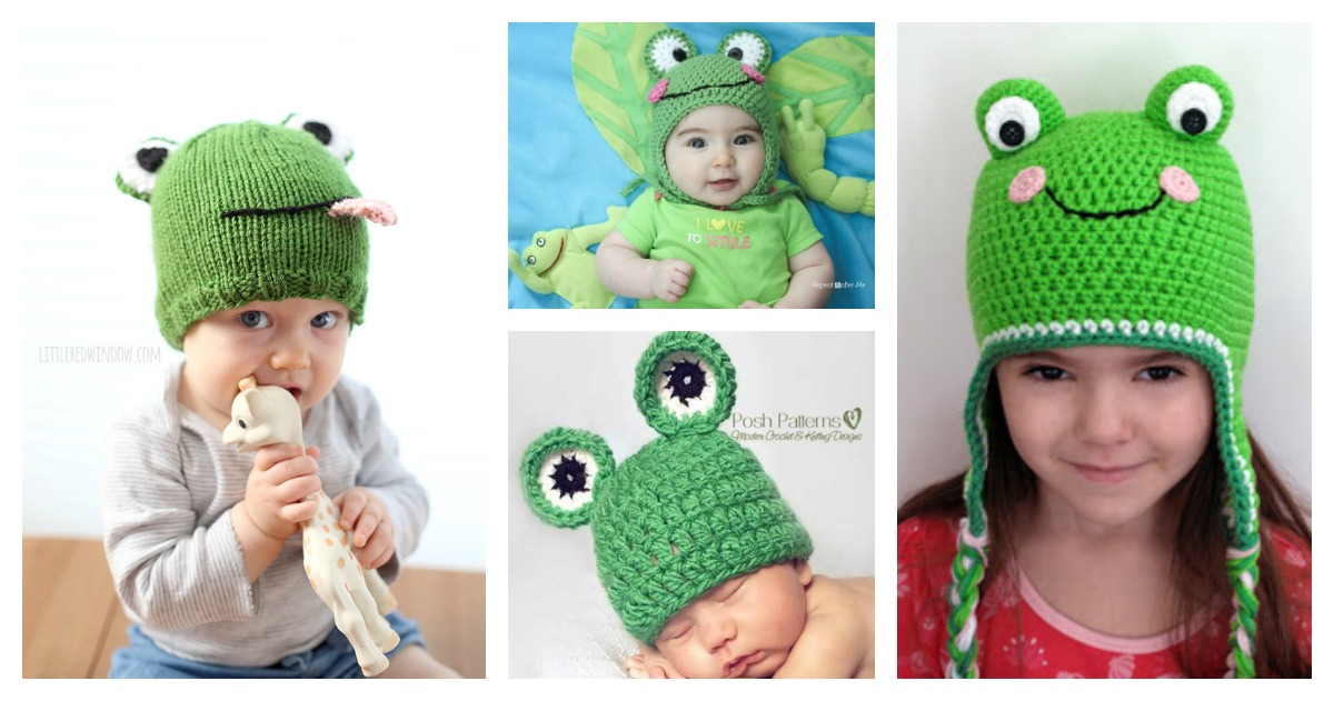 Frog Hat Free Knitting Crochet Patterns