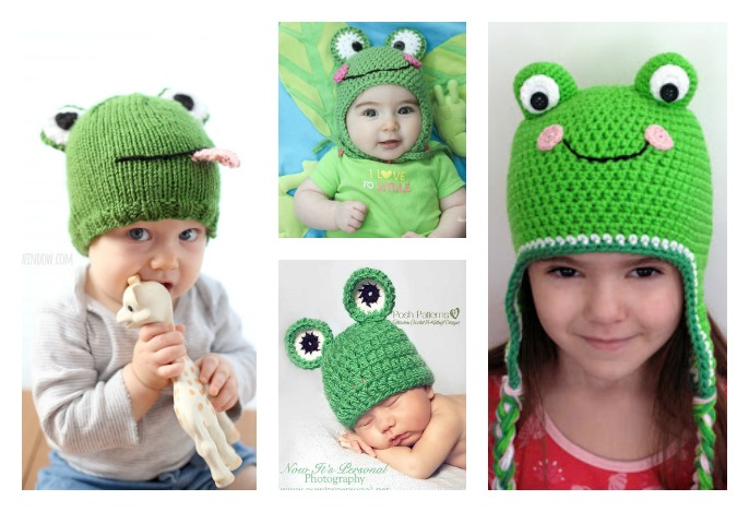 Frog Hat Free Knitting Crochet Patterns Cool Creativities