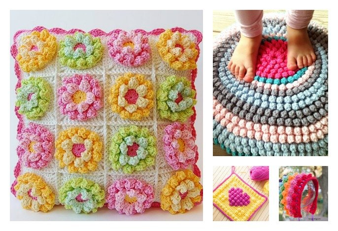 Crochet Patterns And Projects : Beautiful Bobble Stitch Crochet Patterns and Projects -