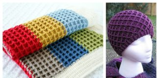 Beautiful Waffle Stitch Free Crochet Patterns and Projects
