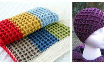 Beautiful Waffle Stitch Free Crochet Patterns and Projects